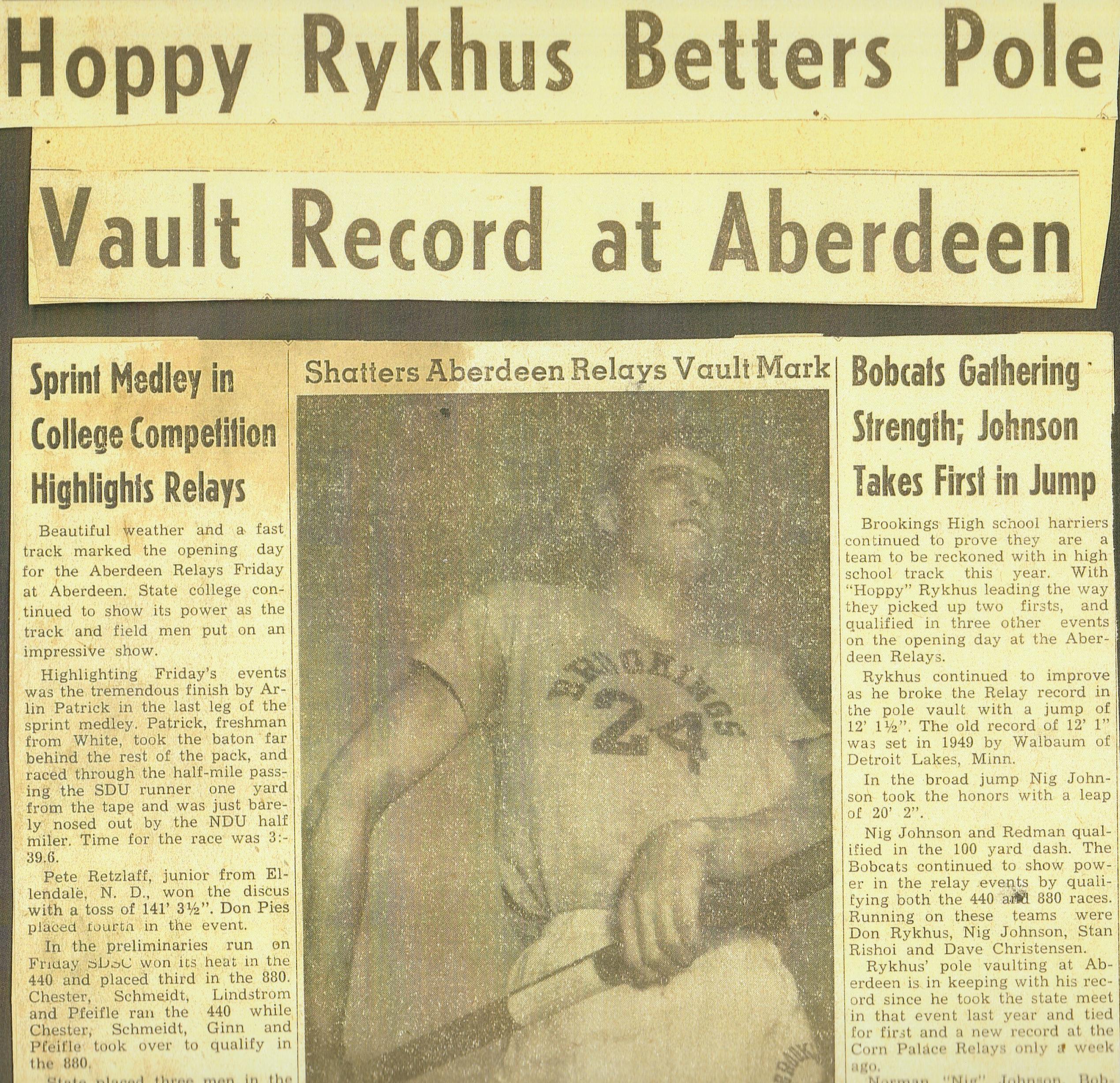 Duane Rykhus South Dakota Sports Hall Of Fame